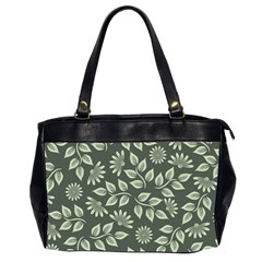 Flowers Pattern Spring Nature Oversize Office Handbag (2 Sides) by HermanTelo