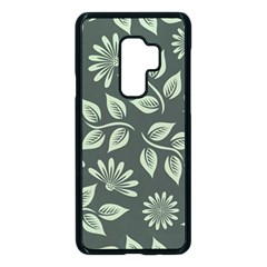 Flowers Pattern Spring Nature Samsung Galaxy S9 Plus Seamless Case(black) by HermanTelo