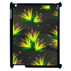 Floral Abstract Lines Apple Ipad 2 Case (black)