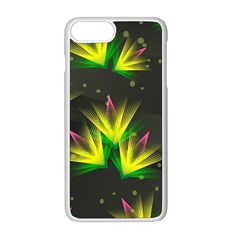 Floral Abstract Lines Iphone 8 Plus Seamless Case (white)