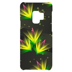 Floral Abstract Lines Samsung S9 Black Uv Print Case by HermanTelo