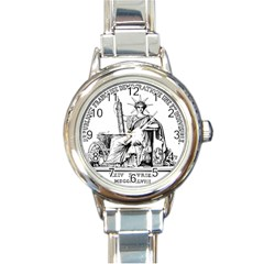 Great Seal Of France Round Italian Charm Watch by abbeyz71