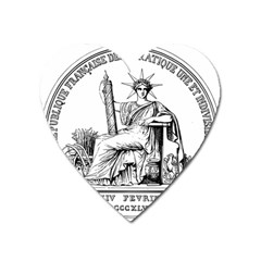 Great Seal Of France Heart Magnet by abbeyz71