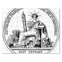 Great Seal Of France Rectangular Jigsaw Puzzl by abbeyz71