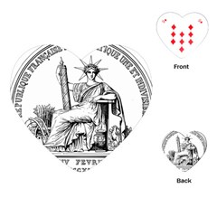 Great Seal Of France Playing Cards Single Design (heart) by abbeyz71