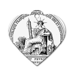 Great Seal Of France Dog Tag Heart (one Side) by abbeyz71