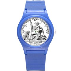 Great Seal Of France Round Plastic Sport Watch (s) by abbeyz71