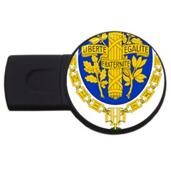 Coat O Arms Of The French Republic Usb Flash Drive Round (2 Gb) by abbeyz71