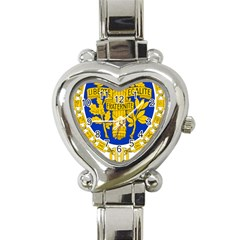 Coat O Arms Of The French Republic Heart Italian Charm Watch