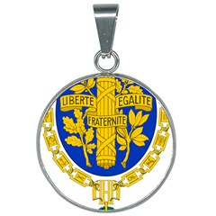 Coat O Arms Of The French Republic 25mm Round Necklace by abbeyz71