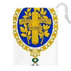 Coat O Arms Of The French Republic Drawstring Pouch (4xl) by abbeyz71