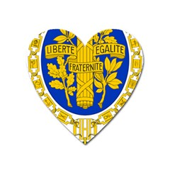 Coat Of Arms Of The French Republic Heart Magnet by abbeyz71