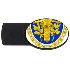 Coat Of Arms Of The French Republic Usb Flash Drive Oval (4 Gb) by abbeyz71