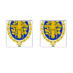 Coat Of Arms Of The French Republic Cufflinks (square) by abbeyz71