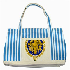 Coat Of Arms Of The French Republic Striped Blue Tote Bag by abbeyz71