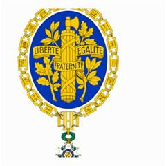 Coat Of Arms Of The French Republic Small Garden Flag (two Sides) by abbeyz71