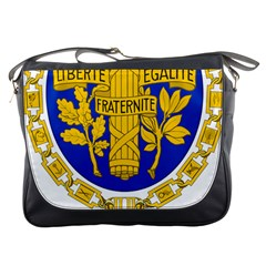 Coat Of Arms Of The French Republic Messenger Bag by abbeyz71