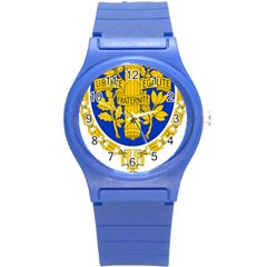 Coat Of Arms Of The French Republic Round Plastic Sport Watch (s) by abbeyz71