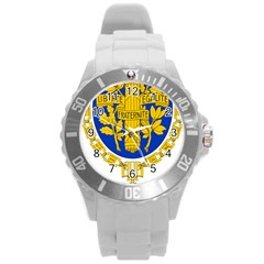 Coat Of Arms Of The French Republic Round Plastic Sport Watch (l) by abbeyz71