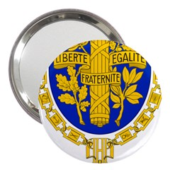 Coat Of Arms Of The French Republic 3  Handbag Mirrors by abbeyz71