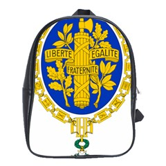 Coat Of Arms Of The French Republic School Bag (xl) by abbeyz71