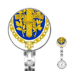 Coat Of Arms Of The French Republic Stainless Steel Nurses Watch by abbeyz71