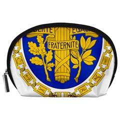 Coat Of Arms Of The French Republic Accessory Pouch (large) by abbeyz71