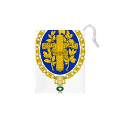 Coat Of Arms Of The French Republic Drawstring Pouch (xs) by abbeyz71
