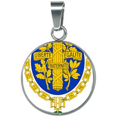 Coat Of Arms Of The French Republic 20mm Round Necklace by abbeyz71