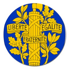 Arms Of The French Republic Magnet 5  (round) by abbeyz71