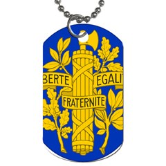 Arms Of The French Republic Dog Tag (one Side) by abbeyz71