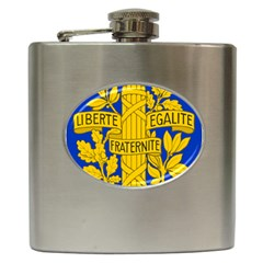 Arms Of The French Republic Hip Flask (6 Oz) by abbeyz71