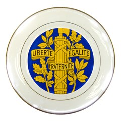Arms Of The French Republic Porcelain Plates by abbeyz71