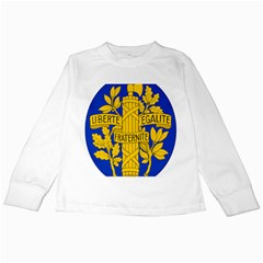 Arms Of The French Republic Kids Long Sleeve T-shirts by abbeyz71