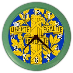 Arms Of The French Republic Color Wall Clock by abbeyz71