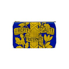 Arms Of The French Republic Cosmetic Bag (small) by abbeyz71