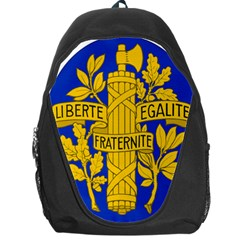 Arms Of The French Republic Backpack Bag by abbeyz71
