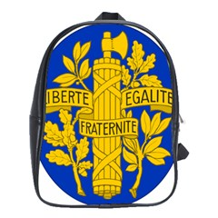Arms Of The French Republic School Bag (xl) by abbeyz71