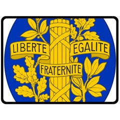 Arms Of The French Republic Double Sided Fleece Blanket (large)  by abbeyz71