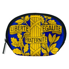 Arms Of The French Republic Accessory Pouch (medium) by abbeyz71