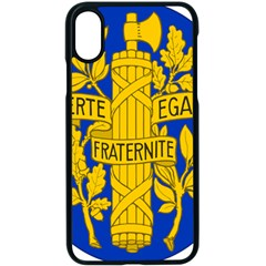 Arms Of The French Republic Iphone Xs Seamless Case (black) by abbeyz71
