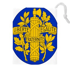 Arms Of The French Republic Drawstring Pouch (3xl) by abbeyz71