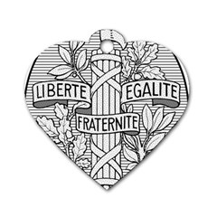 Arms Of The French Republic  Dog Tag Heart (one Side) by abbeyz71