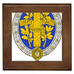 Coat Of Arms Of The French Republic, 1905-1953 Framed Tile by abbeyz71