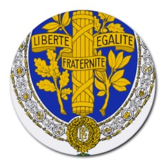 Coat Of Arms Of The French Republic, 1905-1953 Round Mousepads by abbeyz71