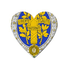 Coat Of Arms Of The French Republic, 1905 1953 Heart Magnet by abbeyz71