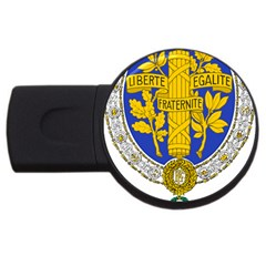 Coat Of Arms Of The French Republic, 1905-1953 Usb Flash Drive Round (2 Gb) by abbeyz71