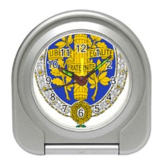 Coat Of Arms Of The French Republic, 1905-1953 Travel Alarm Clock by abbeyz71