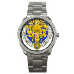 Coat Of Arms Of The French Republic, 1905-1953 Sport Metal Watch by abbeyz71