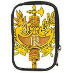 French Republic Diplomatic Emblem Compact Camera Leather Case Front